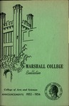 1952-1954 Marshall College Bulletin (College of Arts & Sciences ed.) by Marshall University