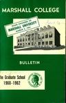 Graduate Catalog, 1960-1962 by Marshall University