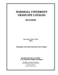 Graduate Catalog, 2019-2020 by Marshall University