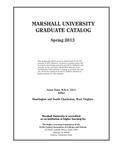 Graduate Catalog, Spring 2013