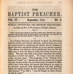Public Offences, or Church Discipline: No. I