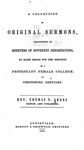 Collection of Original Sermons by Thomas P. Akers