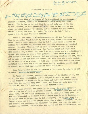 Series II(b)  Radio Sermons  Folder 2  Radio Sermons 1948