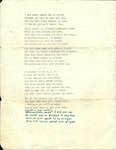Series III. Folder 5. Poems, n.d.