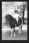 Curtis Baxter on pony, age 5, 1911