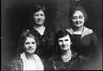 Four women, Mrs. J. Frank Baxter front row, on left, 1919