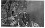WWI view on the Pasubio(?), the war on the mountain in the snow, May 1918