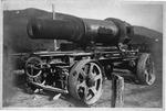 WWI view:German or Italian 30 cm. field cannon, ca. 1917