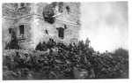 WWI view:Action at Monticello of the troops at the castle of Irnpatu(?)