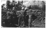 WWI view:, Improvised trenches at Cardelini(?), June, 1918