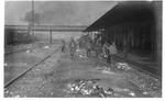 WWI:Trento train station after conquest by the Italian troops, Nov. 1918