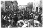 WWI view: Italian cavalry entering city, official Italian Army photo,