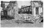WWI: Ruins of Cittadella after the Austrian bombardment