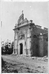 WWI: Ruins of the church of San Pederoble(?), after bombardment, July 1918