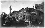 WWI: Ruins of Nervesa after the Italian & Austrian bombardment, June 1918