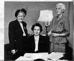 Mrs. Ross F. Beckett (seated) head of the Huntington Poetry Guild