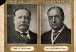 Card for William H. Taft. for President and Jas. S. Sherman for Vice pres