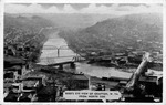 Bird's eye view of Grafton, WV from north side