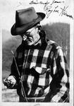 autographed photo of Roy Lee Harmon, poet laureate of WV