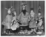 Chinese opera puppets made by Mrs. Edward Williams 1959