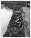 Bridge abutment at the David Brinkley bridge, Wayne, WV, Sept. 1970,