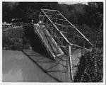 The fallen David Brinkley bridge, Wayne, WV, Sept. 1970,