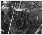 Wreckage of The fallen David Brinkley bridge, Wayne, WV, Sept. 1970