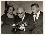 Mrs. Sterling Hamlet with Jesse Stuart (on right), ca. 1958,