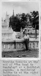 Rev. Erville Sowards at a Buddhist pagoda, Burma, 1961