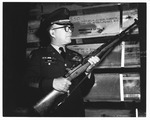 Lt. Col. James B. Bryant of Ft. Campbell, KY holding M-14 rifle