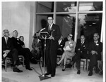 WV Governor Cecil Underwood giving talk in Huntington, Oct. 1, 1960