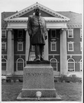 Collis P. Huntington statue in front of C&O station, Huntington, WV, ca. 1960's