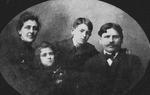 Rev. John McCarthy, wife, children Margaret and Griffin, ca. 1880's