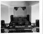 Pulpit & organ in First Congregational Church, Huntington, WV, 1957