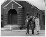 Edgar Newman (left), Rev. & Mrs. Benjamin R. James, Jr., son Jon Mark, 1958