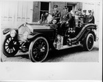 Huntington Fire Dept. Fire engine and crew, ca. 1920's