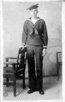 J. Fred Plymale, in US Navy uniform, 1919