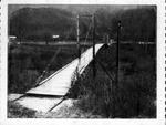 Swinging bridge across Guyandotte River, Lincoln County, WV, ca. 1969,