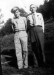 Junior Haynie (uniform) and father Ewing P. Haynie, summer 1943