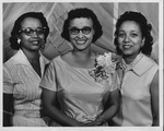 Miss Cilest Lewis (center) and her 2 sisters, July 1959