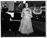 Anna Mary Muncy singing at Jennie Wiley Chapter of DAR, Kermit,WVa.