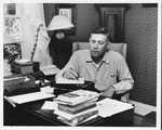 Jesse Stuart at his home office, July 1, 1955