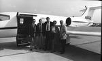Dr. Carl Hoffman & wife Lynn at Tri-State Airport, Huntington, W.Va