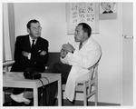 Dr. Carl Hoffman(left) and Dr. Ake Hassler,Flen Rural health Ctr., Sweden