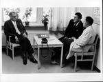 Dr. Karl-Fredrik Blom, (left), Dr. Hoffman & Dr. Ake Hassler, Flen., Sweden