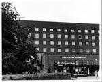 Main entrance to Karolinska Hospital, Stockholm, Sweden