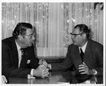 Dr. Carl Hoffman (l) with Dr. Josef Stockhausen, Sec-gen, German Med. Assoc.