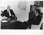Dr. Carl Hoffman (r) with Sir George Godber, British Chief Medical officer