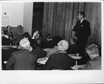 Dr. Carl Hoffman addressing International delegates to British Med. Assoc