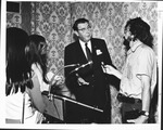 Dr. Carl Hoffman at New York press conference after his European visit